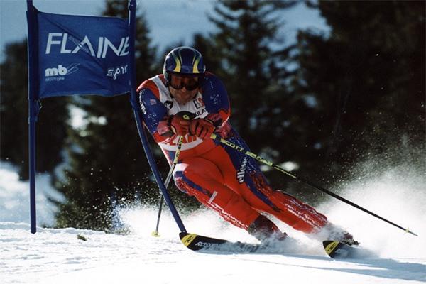 Christophe Chevrier à la Coupe de France Masters de ski à Flaine